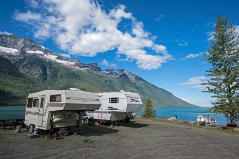 Camping and fishing in Valemount