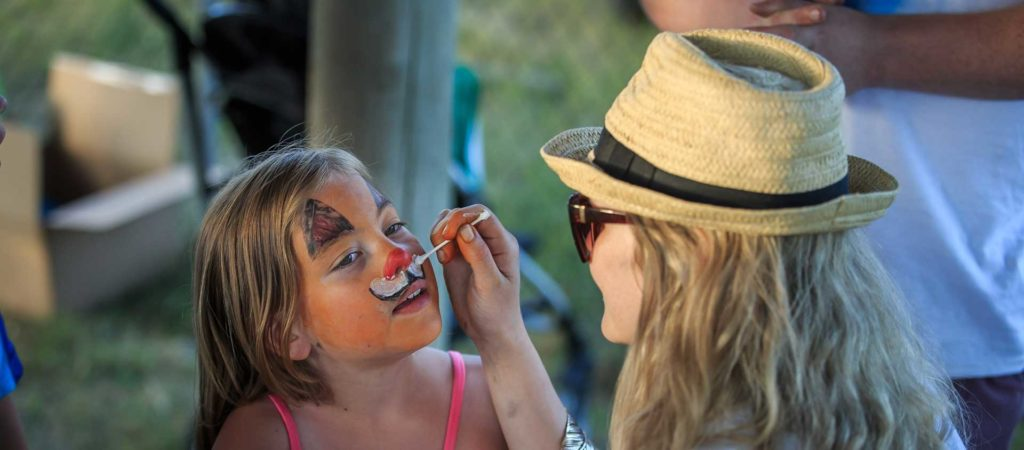 Valemount Arts in Summer, face painting