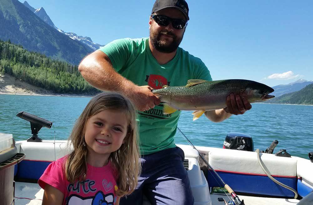 Big trout - fishing in Valemount