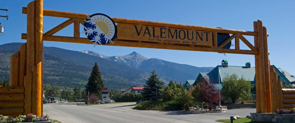 Entrance gate at Valemount