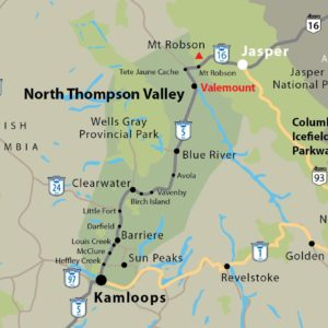 North Thompson Valley Corridor Map