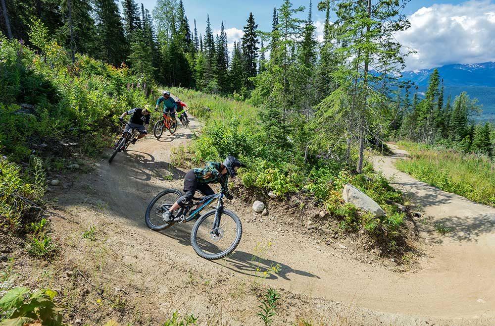 Extensive trail network for mountain biking in Valemount