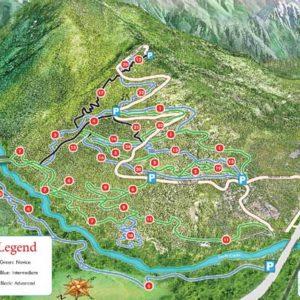 Valemount Mountain Bike Park Map