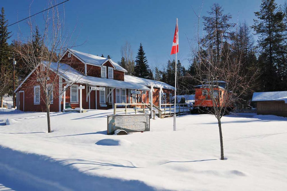 Valemount Museum in winter