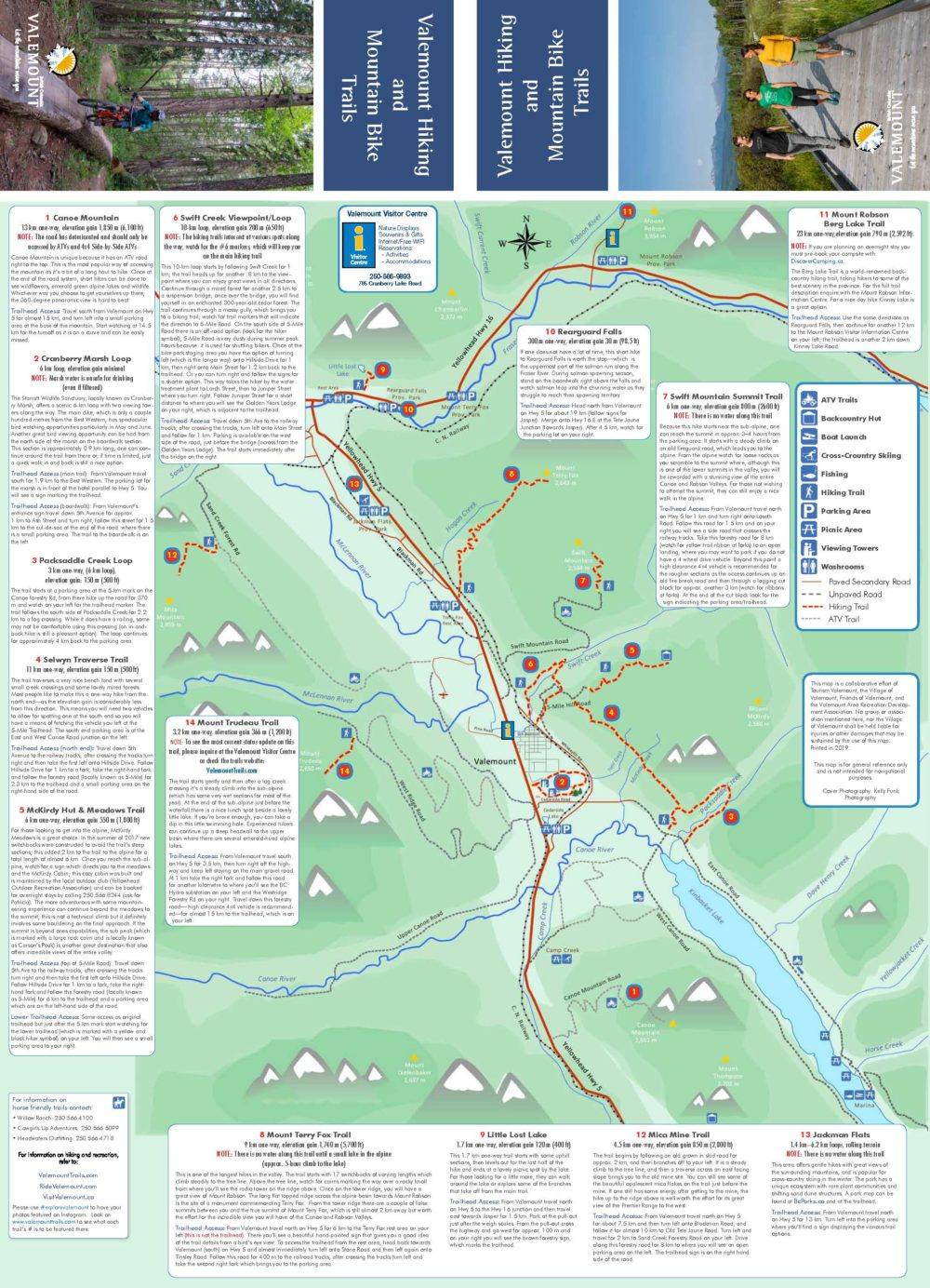 Valemount Hiking Trails Map 2019